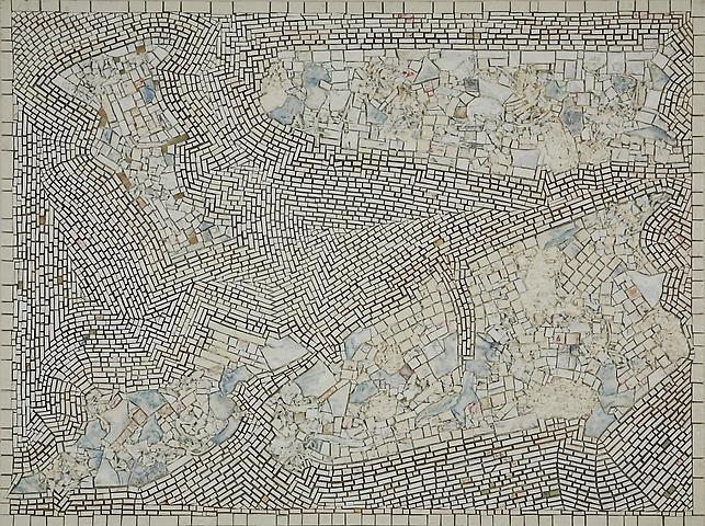 Alexandrian Quartet (2001) Acrylic on canvas 45h x 60w in (114.3h x 152.4w cm)