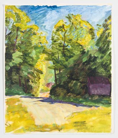 Study II (1991) Oil on gessoed paper 13.3h x 11.1w in (33.8h x 28.2w cm)