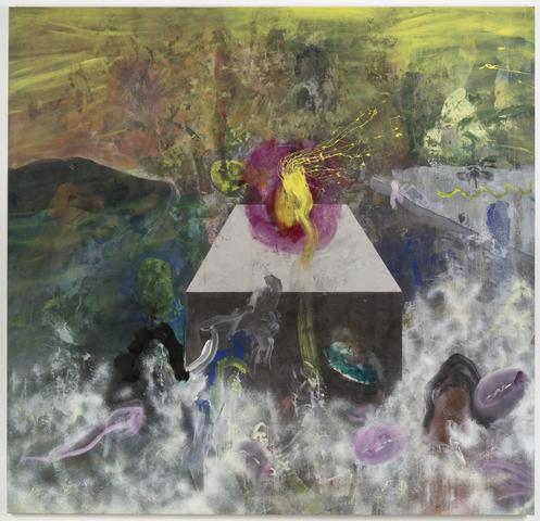 Satori (1969) Acrylic on canvas 105h x 109w in (266.7h x 276.9w cm)