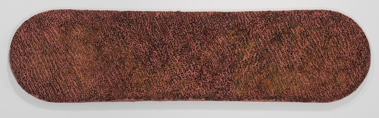 Bitteroot (1976) Oil and Dorland's wax on canvas 15h x 60w in (38.1h x 152.4w cm)