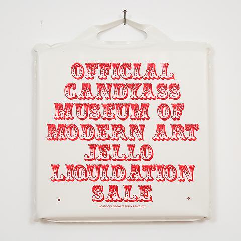 Jello Puffy Print  (2007) Screenprint on vinyl foam cushion   14h x 14w x 2d in (35.56h x 35.56w x 5.08d cm)
