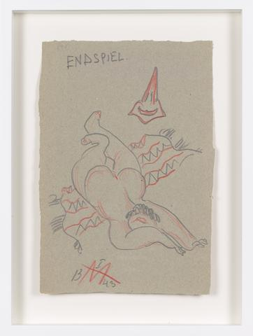 Untitled (1943) Colored pencil on paper 9.76h x 6.61w in (24.8h x 16.8w cm)