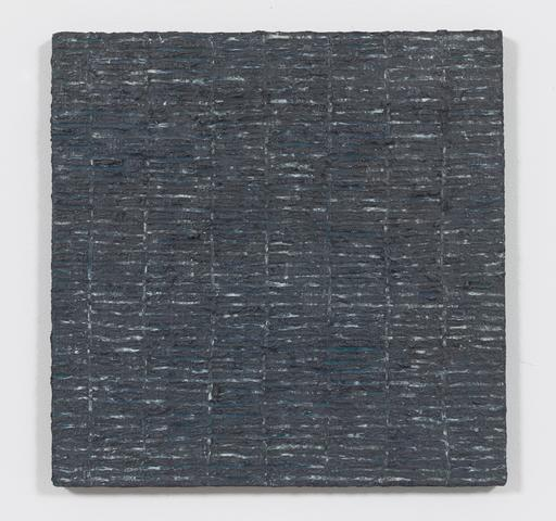 Grey Grid (1974) Oil and Dorland's wax on canvas 20.5h x 20.5w in (52.1h x 52.1w cm)