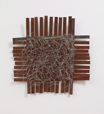Iron No. 3 (2013) Iron and steel wire 46.9h x 47.2w x 16.5d in (119.1h x 119.9w x 41.9d cm)