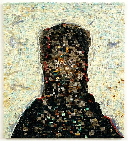 Jack Whitten Black Monolith II (for Ralph Ellison) (1994) Acrylic on canvas; 58h x 52w in (147.32h x 132.08w cm)