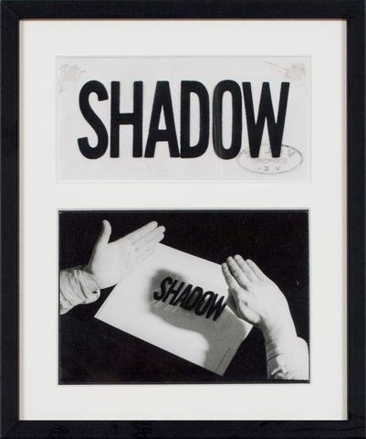 Valie Export, <i>Shadow</i> (1970) Silver gelatin vintage print and transparent paper 2.95h x 4.13w in (7.5h x 10.5w cm)