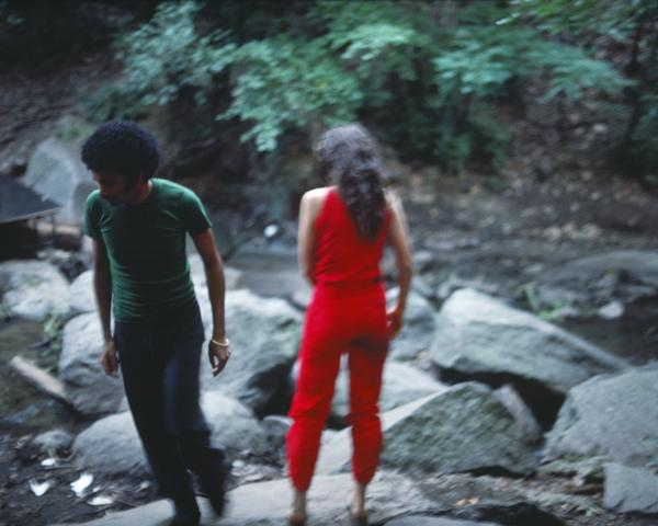 Rivers, First Draft: The Young Man pulls away (1982/2015) Digital C-print from Kodachrome 35mm slides in 48 parts, 16h x 20w in (40.6h x 50.8w cm) Edition of 8 with 2 AP