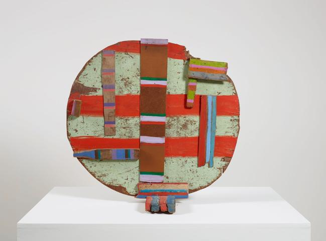 II Oglala (1979) Acrylic on wood 31h x 33w x 16d in (78.74h x 83.82w x 40.64d cm)