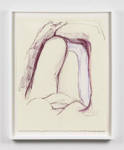 Untitled  (2016) Oil crayon on paper 22.5h x 17.5w in (57.2h x 44.5w cm)