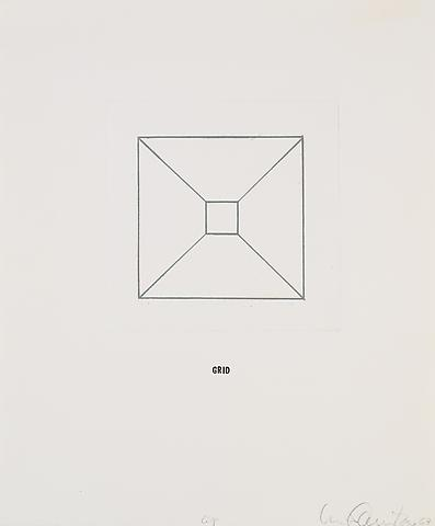 Envelope, in 10 parts (1967) Etching with rubber stamp ink on paper 16.14h x 13.58w in (41h x 34.49w cm)