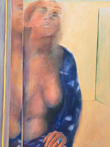 In Kimona (2008) Oil on canvas 40h x 30w in (101.6h x 76.2w cm)