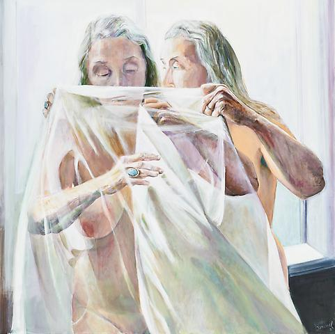 Unveiling (2011) Oil On Canvas 48h x 48w in (121.92h x 121.92w cm)