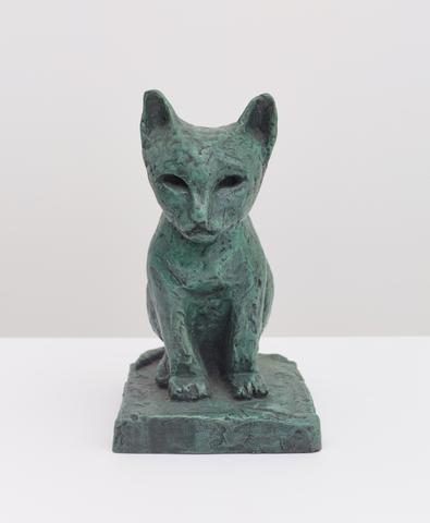 Untitled (Cat) (c. 1922) Bronze 8h x 4.75w x 5d in (20.3h x 12.1w x 12.7d cm)