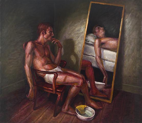 Yellow Washcloth (1992) Oil on canvas 54h x 62w in (137.16h x 157.48w cm)