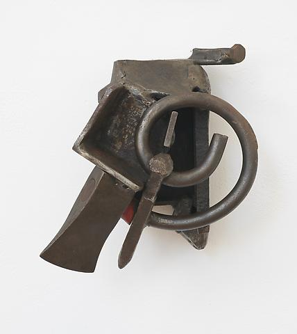 Weapon of Freedom  (1986) (From the series <i>Lynch Fragments</i>) Welded steel 11h x 9w x 6d in (27.94h x 22.86w x 15.24d cm)