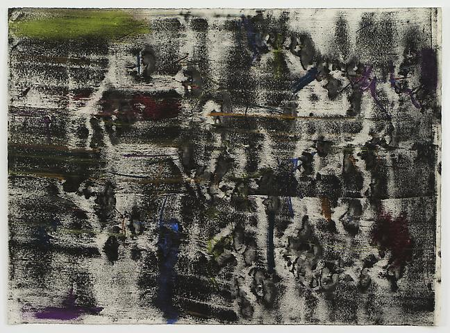 Cut Acrylic Series #5 (1973) Pastel and powdered pigment on paper 19h x 25.88w in (48.26h x 65.74w cm)