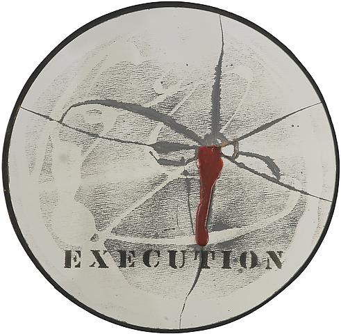 Execution (1970) Mirror, epoxy resin and engraving; Edition of 15 with 1 AP 14h x 14w in (35.56h x 35.56w cm)