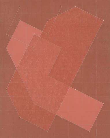 Knight Series #7 (Q3-77 #1) (1977) Oil on canvas 90h x 70w in (228.6h x 177.8w cm)