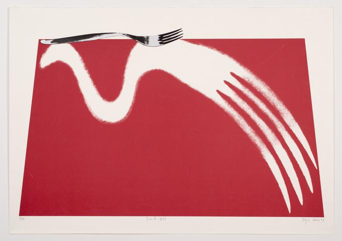 Simile (Red) (1997) Lithography & Serigraphy 27.63h x 39w in (70.2h x 99.1w cm)