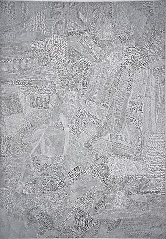Calligraphy (1964) Ink on canvas 60h x 41.5w in (152.4h x 105.4w cm) Collection of the Grey Art Gallery, New York University