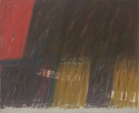 Nightfall (1961) Oil on canvas  62h x 76w in (157.5h x 193w cm)