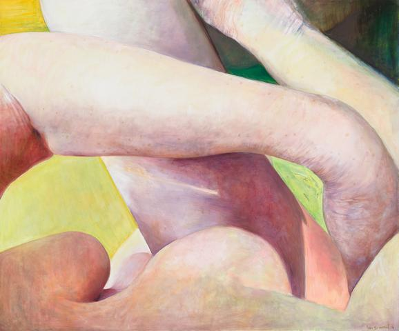Crossed Limbs (2016) Oil on canvas  60h x 72w in (152.4h x 182.9w cm)