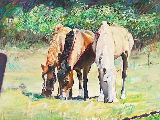 Manger a Trois (1983) Oil on canvas 72h x 96w in (182.88h x 243.84w cm)