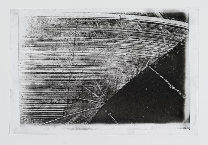 Xerox Project [Flat Plate Monoprint] (1974) Xerox toner on rice paper 10h x 14.75w in (25.4h x 37.5w cm)