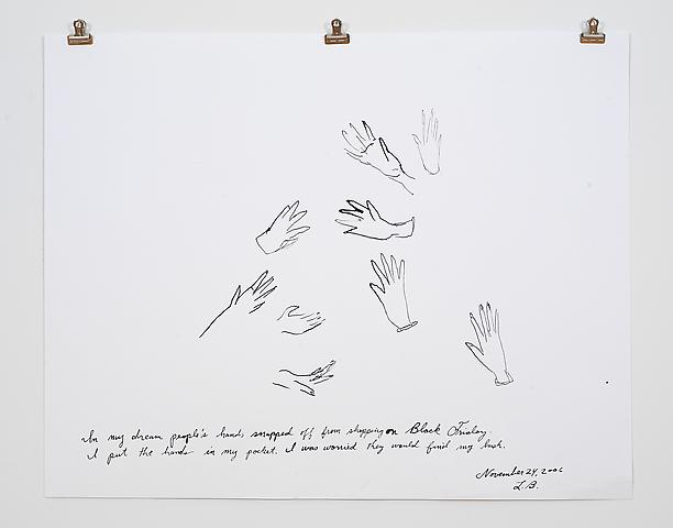 Laura Bush Dream Quartet-3 (2006) Ink on paper 19h x 24w in (48.26h x 60.96w cm)