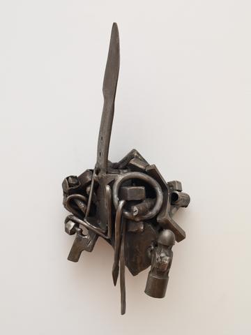 Words of Fanon (1992) Welded steel 22h x 14w x 7.5d in (55.9h x 35.6w x 19.1d cm)