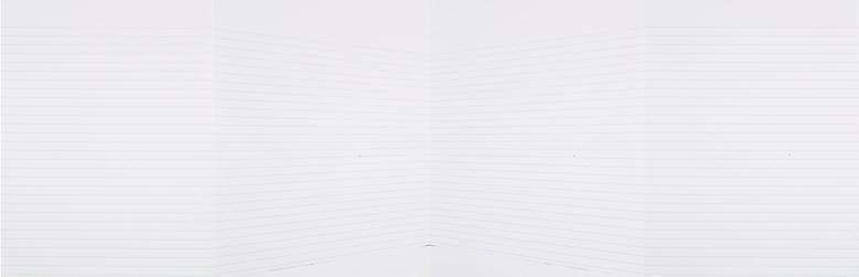 Notes to Myself  (2008) Archival digital prints on paper in 4 parts 11h x 34w in (27.94h x 86.36w cm)