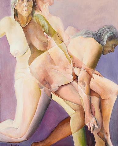 Joan Semmel; In Motion (2012) Oil on canvas 60h x 48w in (152.4h x 121.92w cm)