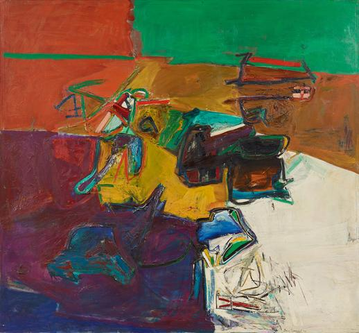 Perfil infinito (1966) Oil on linen 76.38h x 67.32w in (194h x 171w cm)