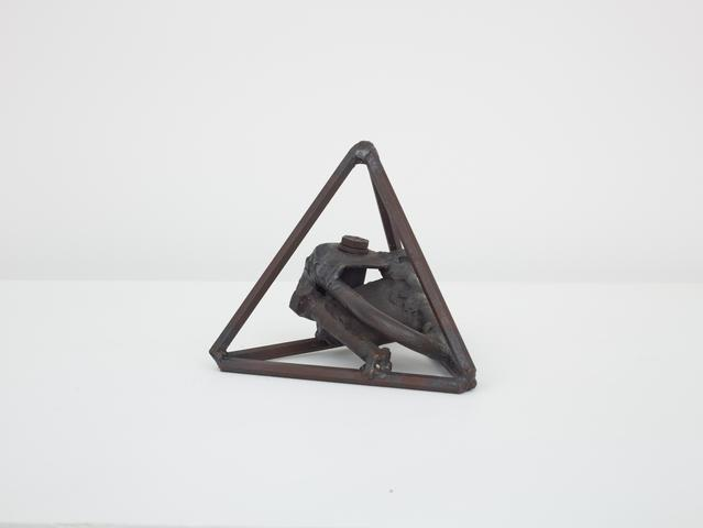 Untitled (Prototype III Three Small Sculptures) (1965-66) Welded steel 5.5h x 6w x 6.75d in (14h x 15.2w x 17.1d cm)