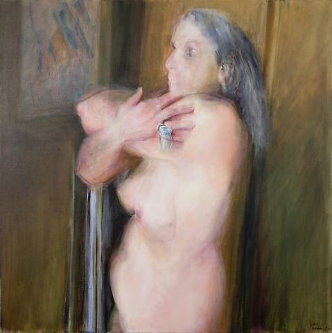 Hug (2006) Oil on canvas 48h x 48w in (121.92h x 121.92w cm)