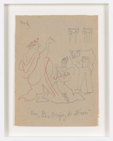 Untitled (1943) Colored pencil on paper 11.42h x 8.46w in (29h x 21.5w cm)