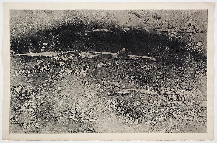 Dispersal #4 (1971) Dry pigment on paper 13h x 20w in (33.02h x 50.8w cm)