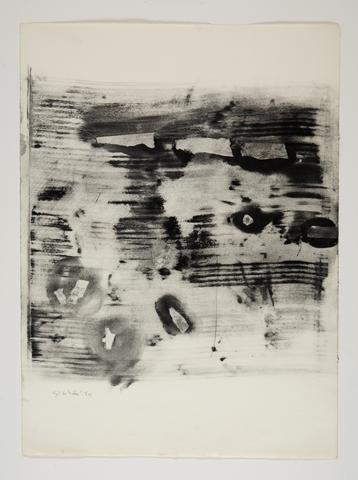 Study for Omalos #2 (1974) Toner on paper 25.8h x 19w in (65.5h x 48.3w cm)