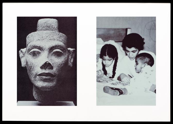 Miscegenated Family Album (Motherhood), L: Nefertiti; R: Devonia reading to Candace and Edward, Jr. (1980/1994) Cibachrome prints, 26h x 37w in (66h x 94w cm) Edition of 8 with 1 AP