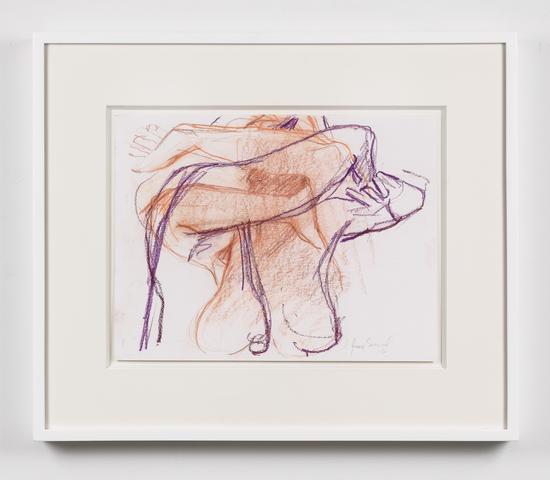 Untitled  (2016) Oil crayon on paper 11.63h x 15.63w in (29.5h x 39.7w cm)