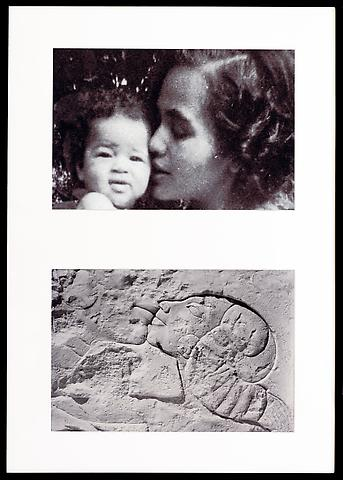 Miscegenated Family Album (A Mother's Kiss) T: Candace and Devonia; B: Nefertiti and daughter (1980/1994) Cibachrome prints; Edition of 8 with 1 AP; 37h x 26w in (93.98h x 66.04w cm)