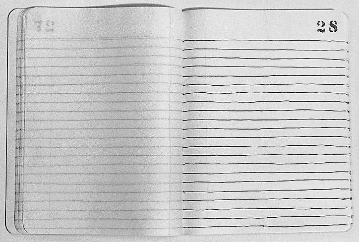Notebook Ink on paper