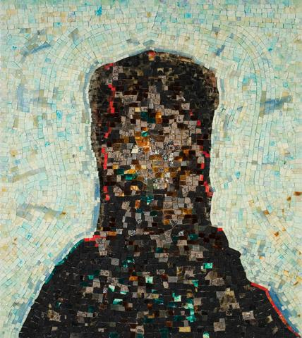 Black Monolith II (For Ralph Ellison) (1994) Acrylic and mixed media on canvas 58h x 52w in (147.3h x 132.1w cm)