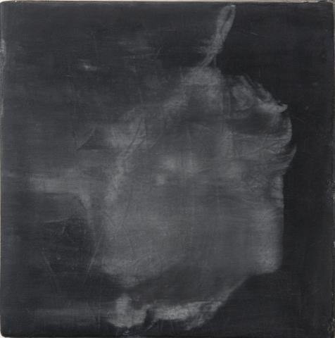 Head IV  Lynching (1964) Acrylic on canvas 11h x 11w in (27.9h x 27.9w cm)