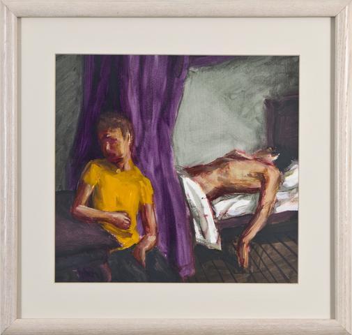 Purple Drape (1988) Oil on gessoed paper 10.3h x 11.3w in (26.2h x 28.7w cm)