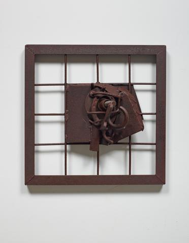 Wayou Mbau (Song of Mbau) (c. 2006) Welded steel 19.75h x 19.75w x 7d in (50.2h x 50.2w x 17.8d cm)