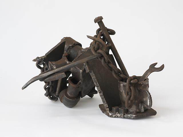 Steel Life (1985-91) (From the series <i>Lynch Fragments</i>) Welded steel 12.5h x 18w x 17.75d in (31.75h x 45.72w x 45.09d cm)