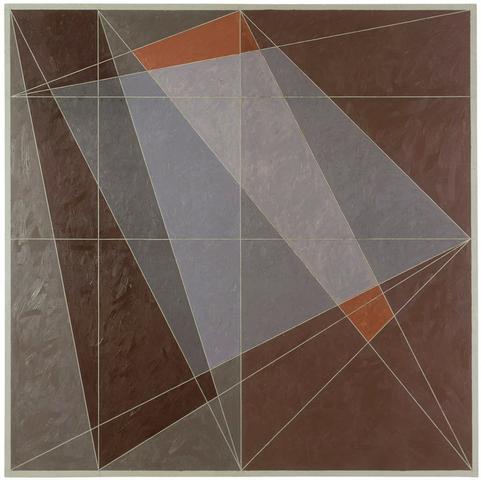 Indian Red Series #1 (1979) Oil on canvas 72h x 72w in (182.9h x 182.9w cm)