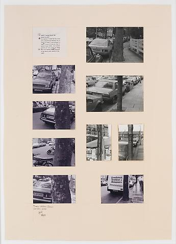 Trees - Walham Grow Road - London (1983) Photographs, original text on paperboard 33.07h x 23.43w in (84h x 59.51w cm)
