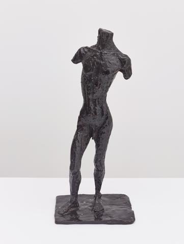 Untitled (Male Figure) (c. 1922) Bronze 15h x 6.5w x 4.75d in (38.1h x 16.5w x 12.1d cm)